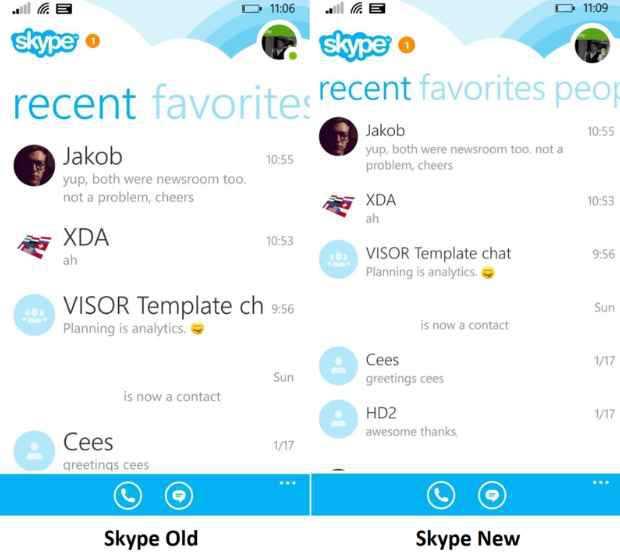Windows Phone aggiorna Skype