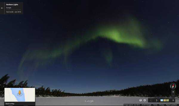 Le luci dellAurora Boreale accendono Google Maps