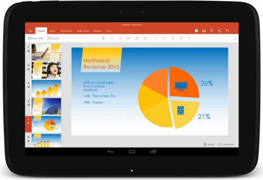 Word, Excel e Power Point per Tablet Android ora definitivi