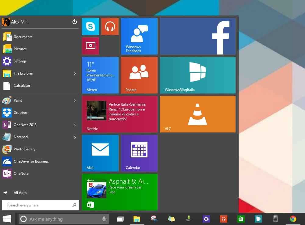 mini start windows10