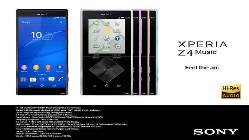 Adorate la musica? in dirittura d'arrivo il Sony Xperia Z4 ...