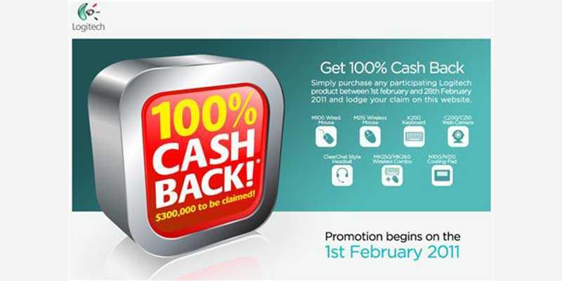 Logitech parte la campagna Cash Back