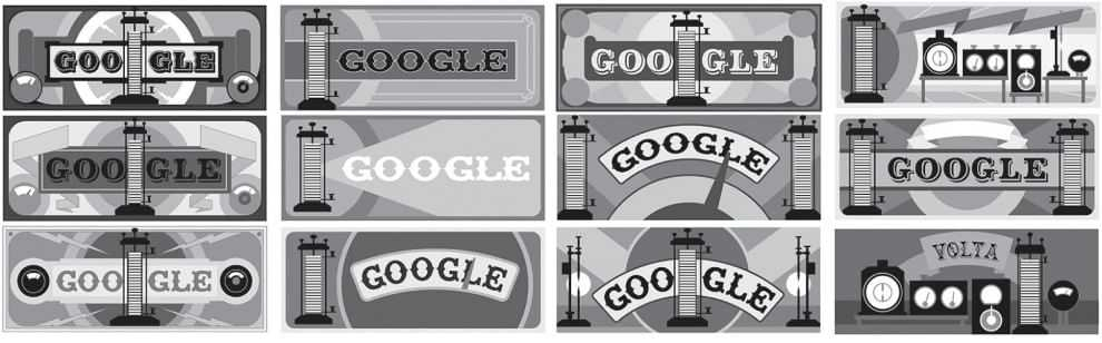 Google dedica un Doodle per i 270 di Alessandro Volta, inventore della pila