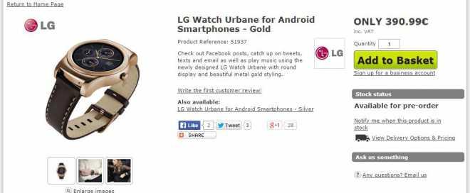 LG G Watch Urban