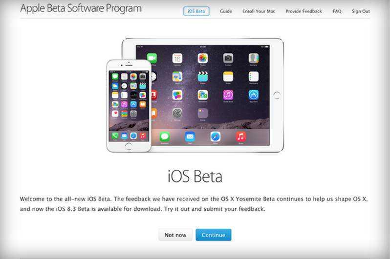 Come installare iOS 8.3 beta pubblica su iPhone e iPad