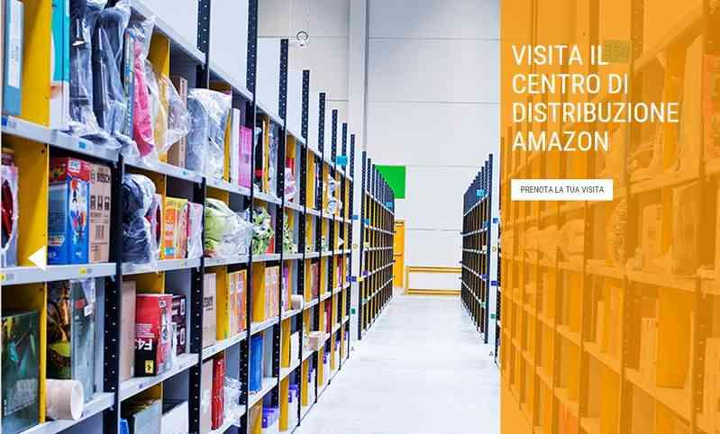 Amazon inaugura in Italia i tour nei propri magazzini