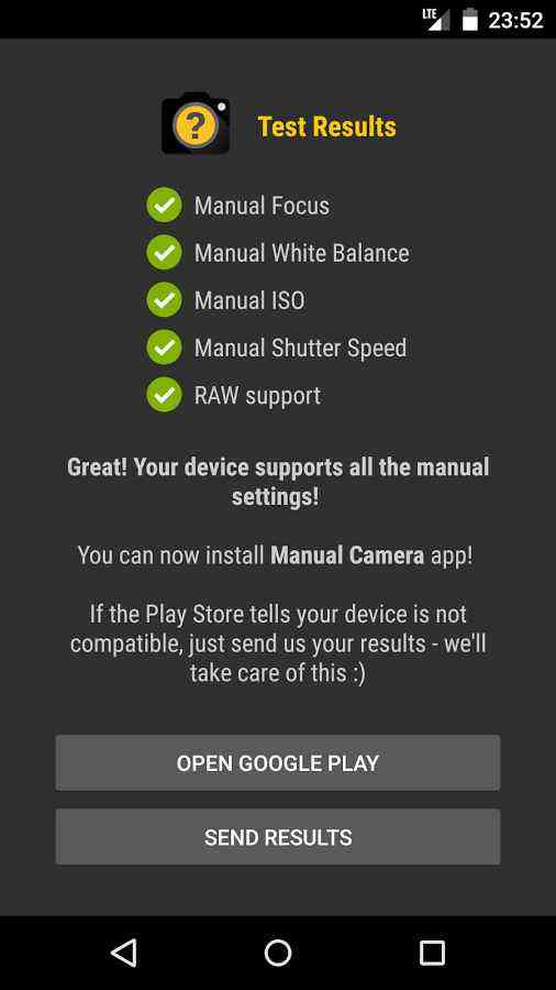 Manual Camera Compability