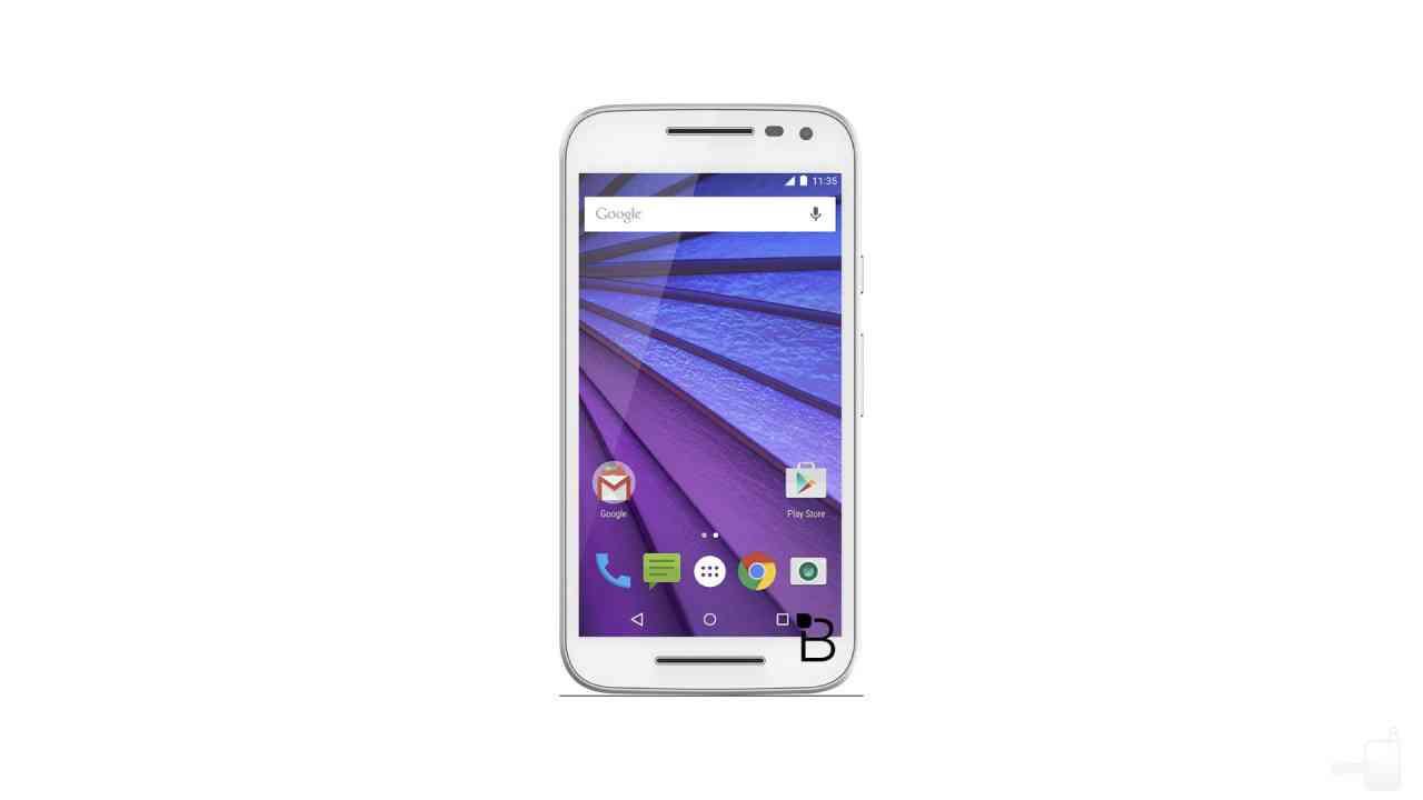 Un'immagine mostra il prossimo Motorola Moto G (2015) in ...