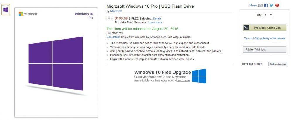 windows 10 su chiave usb