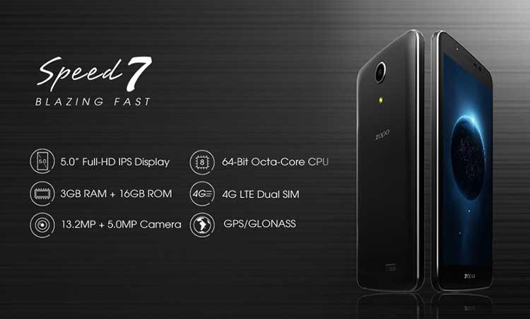 Buono sconto sull'acquisto degli smartphone android Zopo Speed 7 e 7 Plus