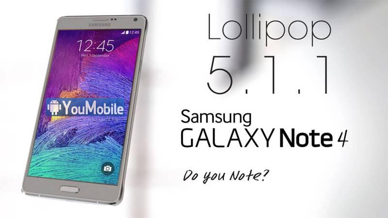 Android 5.1.1 per Note 4, Samsung inizia il rilascio in Italia
