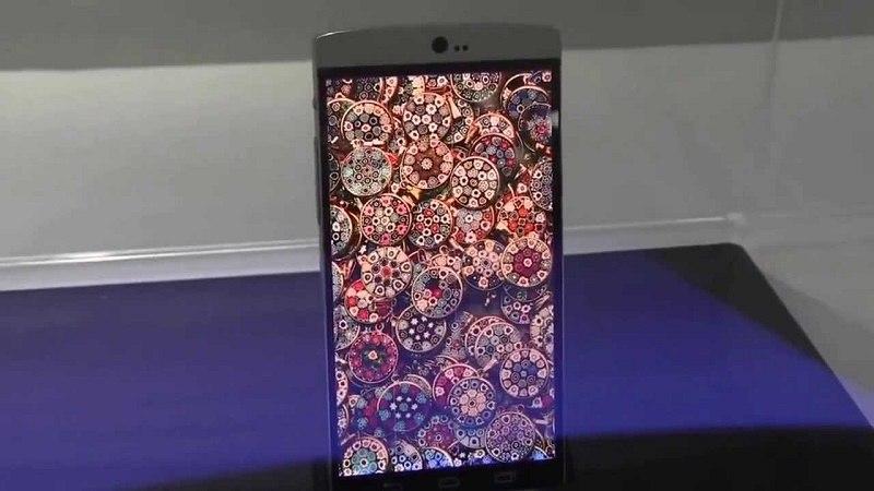 AUO: lo smartphone dallo schermo flessibile