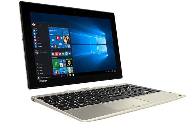 Toshiba Satellite Click 10: passa da notebook a tablet con un click
