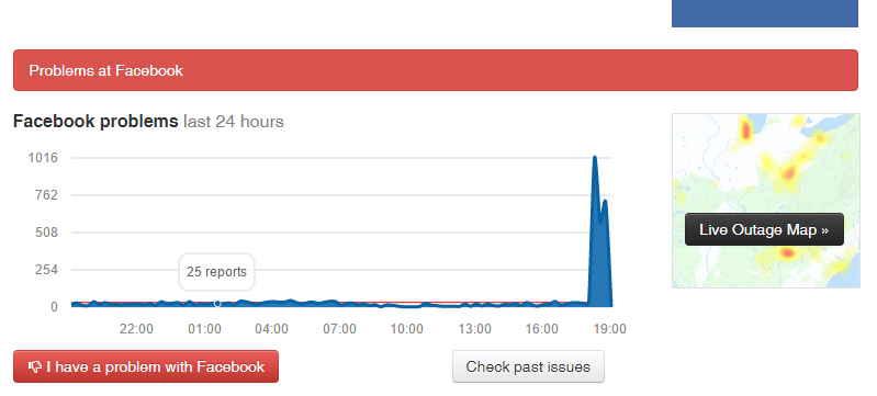 Facebook down, nuovo stop al social network