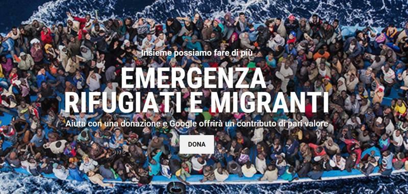 Google in aiuto di rifugiati e migranti, punta a raccogliere 10 milioni di euro in donazioni