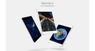 Nuovo iPad Mini 4: processore Apple A8 da 1.5GHz con 2GB di RAM