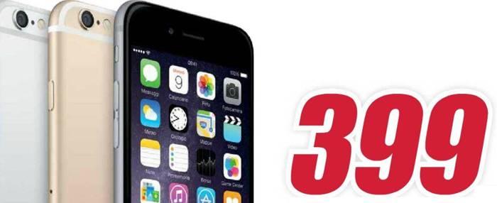 iPhone 6 a 399€ da domani in promozione da Trony