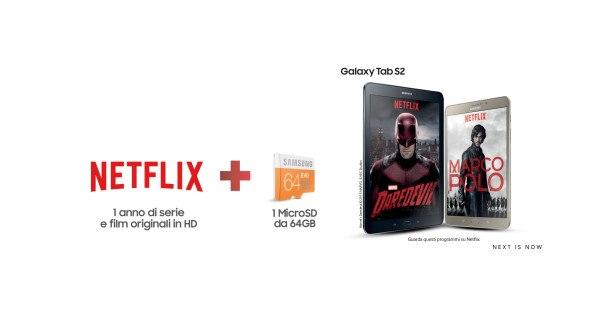 Netflix gratis con l'acquisto di prodotti Samsung