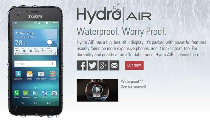 Kyocera Hydro Air annunciato a meno di 100 euro