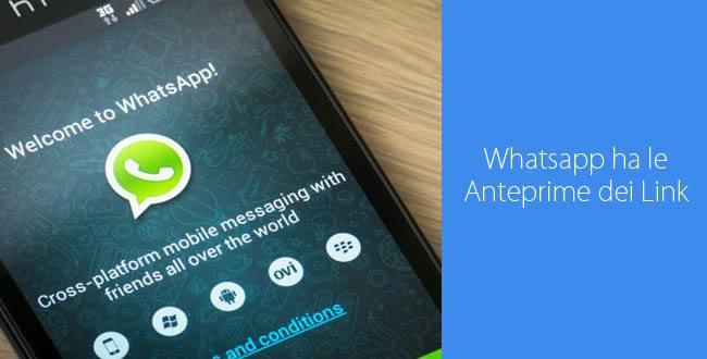 Aggiornamento Whatsapp, iOS vede le Anteprime