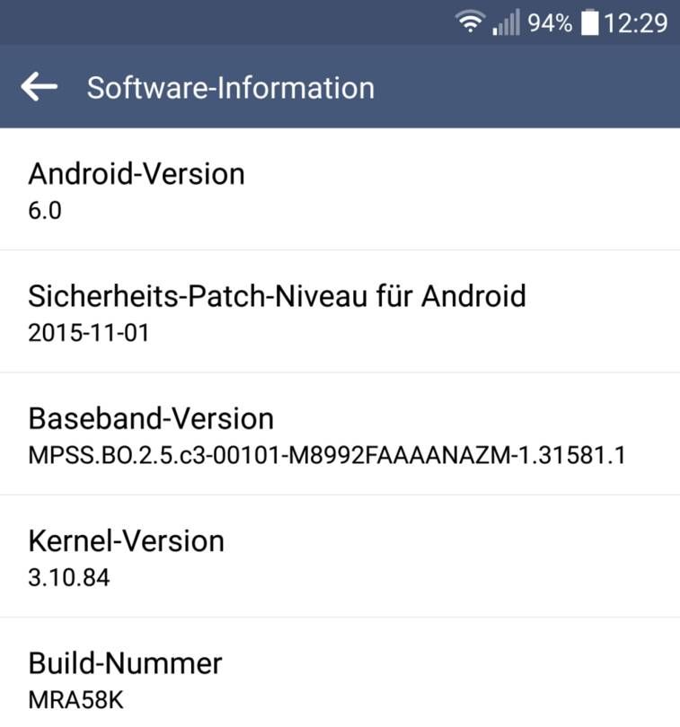 Android 6.0 Marshmallow per LG G4
