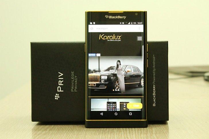 BlackBerry Priv Gold: il primo top di gamma canadese Android è stato placcato in oro!