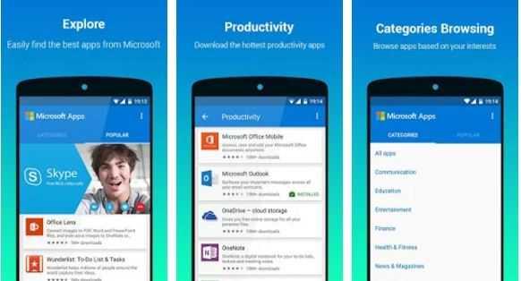 Microsoft Apps, l'applicazione per trovare altre app Microsoft su Android