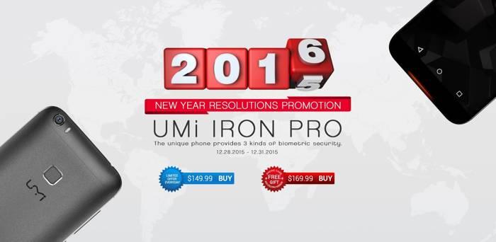 UMi Iron Pro, smartphone octa-core con 3GB di RAM fino a capodanno a soli 140 euro