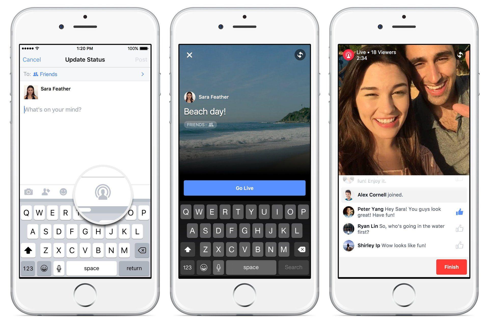 Facebook Live Broadcast, per ora solo negli Stati Uniti