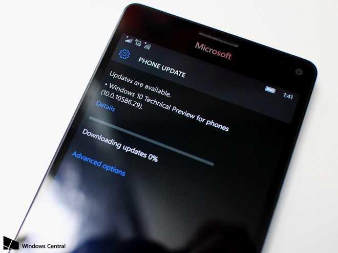 Lumia 950 e 950 XL: ecco l'update Windows 10 Mobile alla build 10586.29
