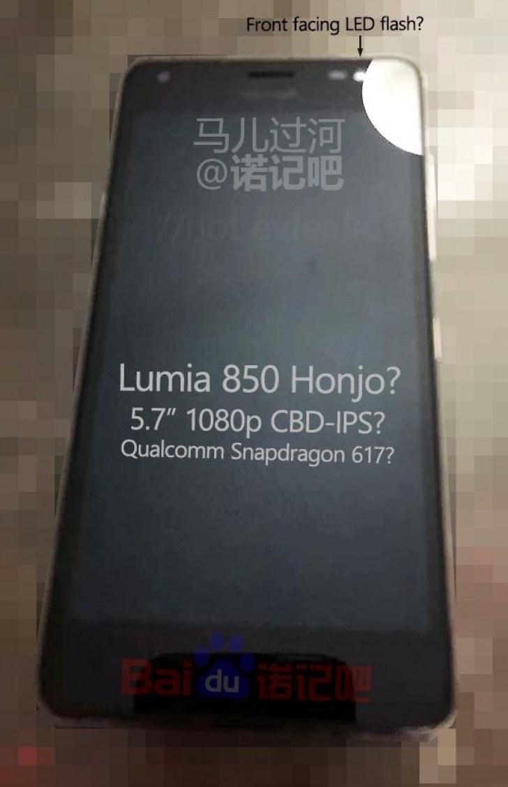 Microsoft Lumia 850: indiscrezioni rivelano prime immagini e specifiche