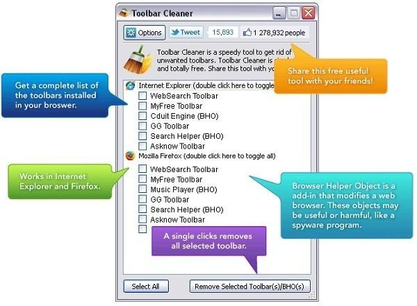 Rimuovere le toolbar da qualunque browser | Guida