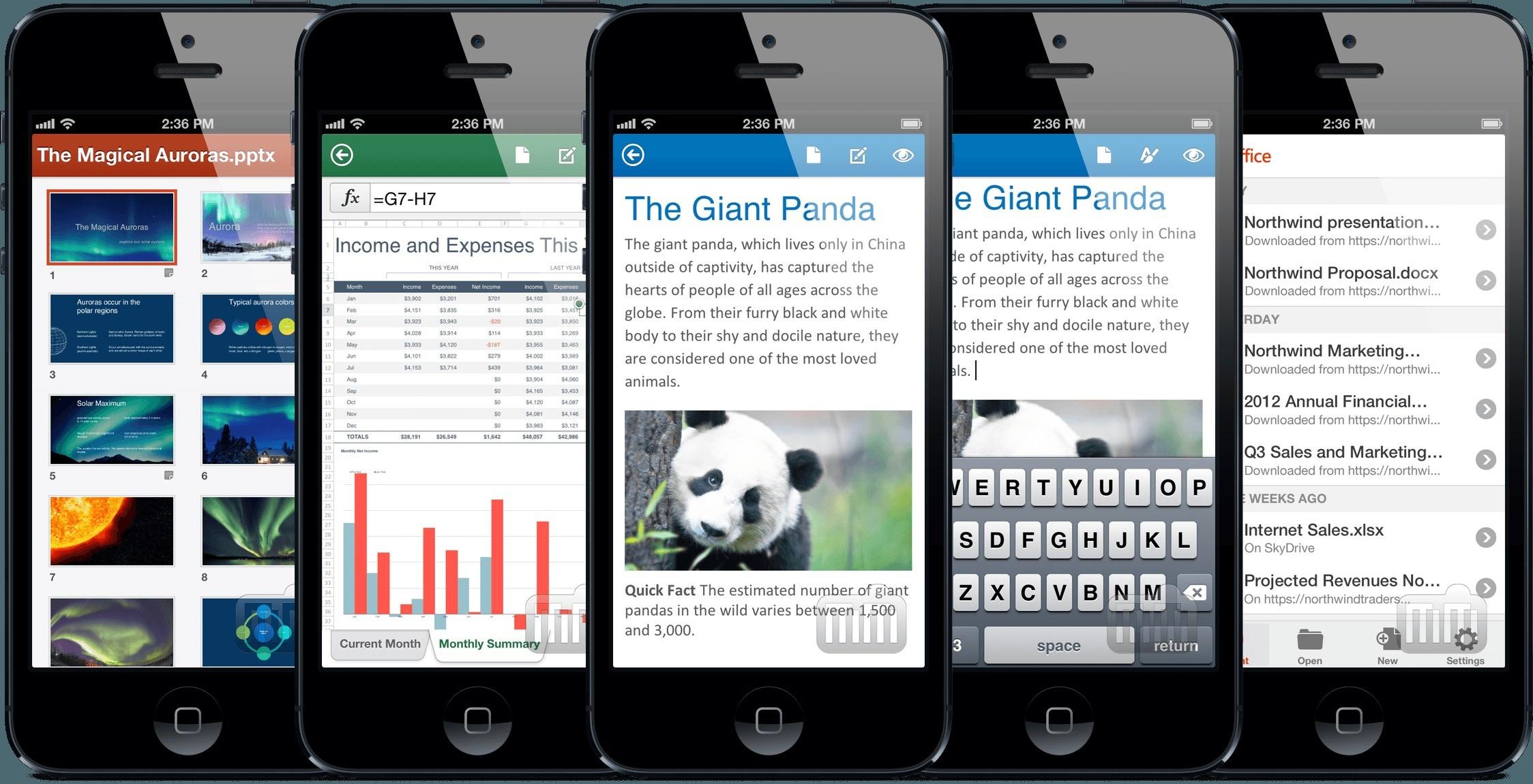 I nuovi aggiornamenti Office Mobile alle app Word, Excel e PowerPoint