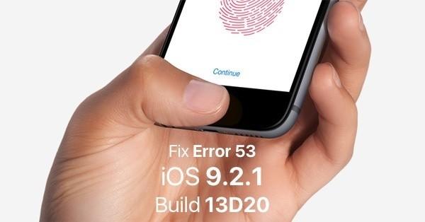 iOS 9.2.1 update, Apple risolve l'errore 53