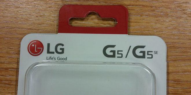 LG G5 SE confermato dalla cover ufficiale dello smartphone LG