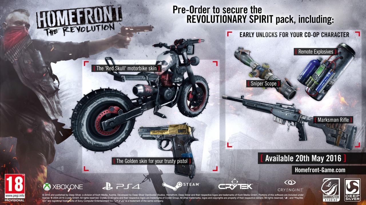 Homefront: The Revolution. Nuovo gioco in d'avventura in arrivo!