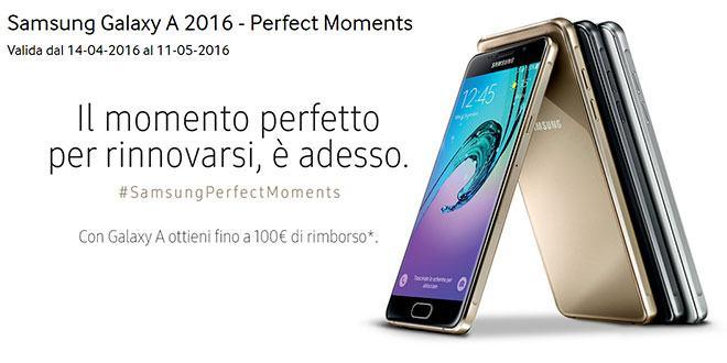 Offerta Samsung Galaxy A5 2016 e A3 2016: fino a 100 euro di rimborso