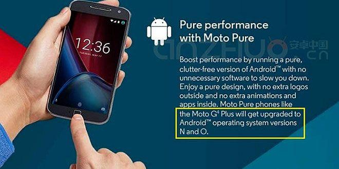 Lenovo Moto G4 Plus riceverà Android N e…Android O