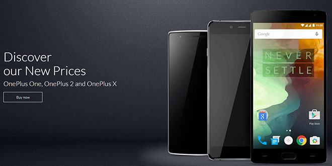 OnePlus rimodula i prezzi di OnePlus X e OnePlus 2