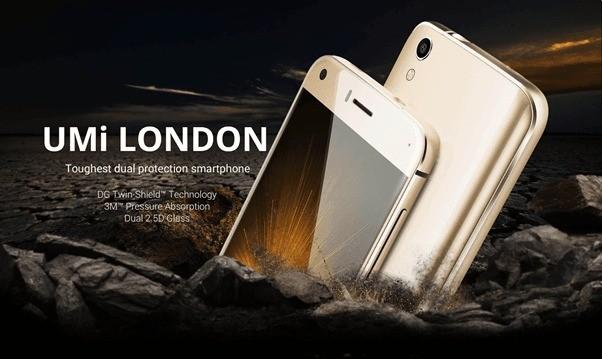 Umi London, nuovo smartphone di casa UMi super resistente