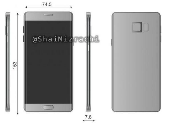 Galaxy Note 7: nuove immagini confermano il display 'edge'