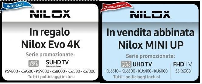 Samsung TV offerte Nilox CAM