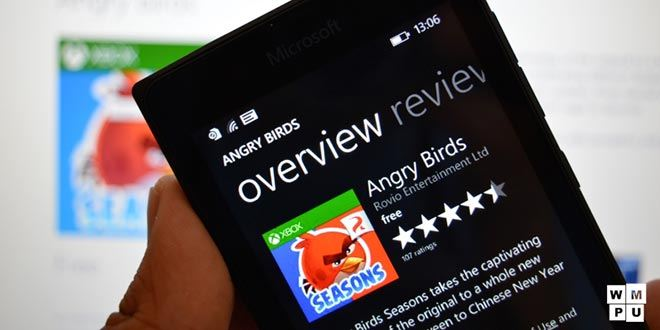 Stop ad Angry Birds per Windows Phone: Ruvio interrompe il supporto