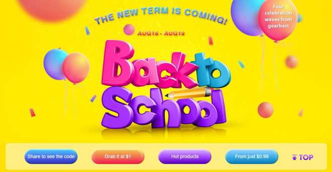 Gearbest coupon: Back to school con diverse offerte