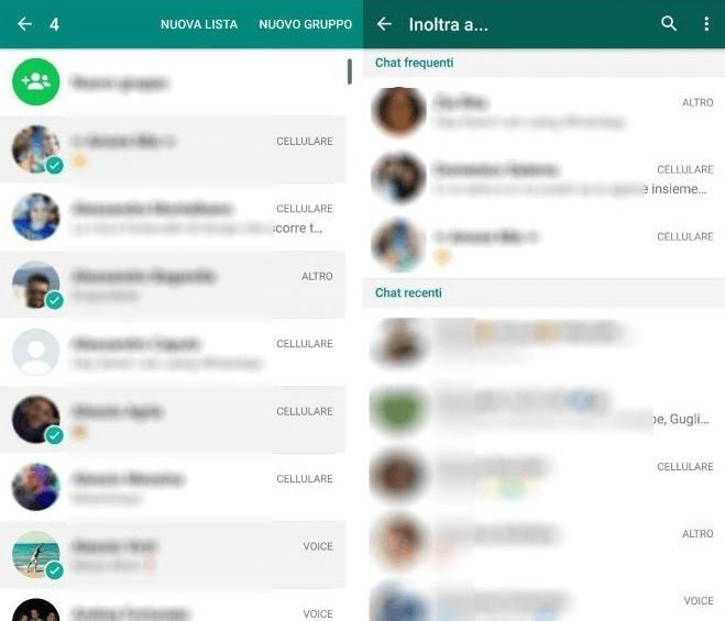 Whatsapp Messaggi multipli