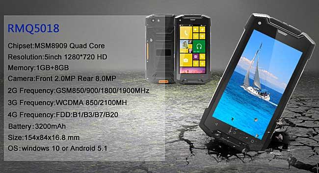 Windows 10 Mobile: ufficiale un nuovo smartphone rugged