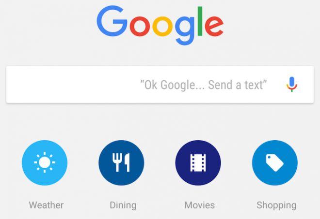 Google Now GUI