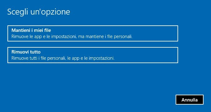 Come ripristinare Windows 10