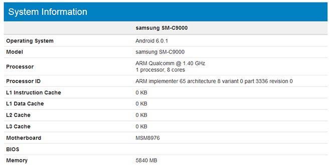 Samsung Galaxy C9 batte Galaxy S8: sarà il primo smartphone Samsung con 6GB RAM