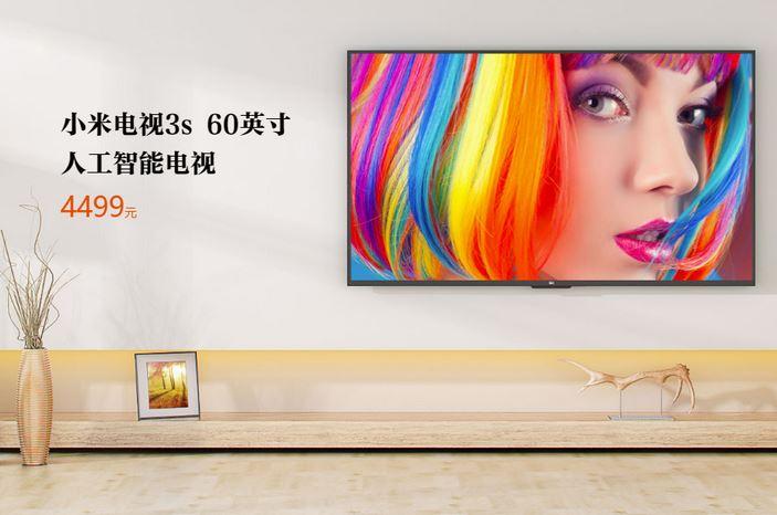 """Xiaomi Mi TV 3S, Smart TV 60"""" 4K a soli 600€"""